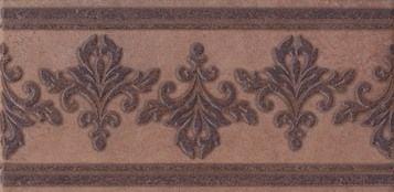 Честер Бордюр коричневый темный STG\B251\3414 Плитка<br><br>