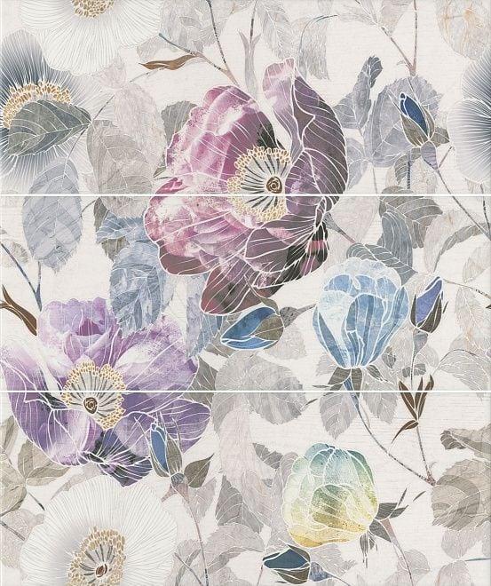 Линьяно Панно Цветы из 3-х частей ALD\A36\3x\7071T Плитка<br><br>