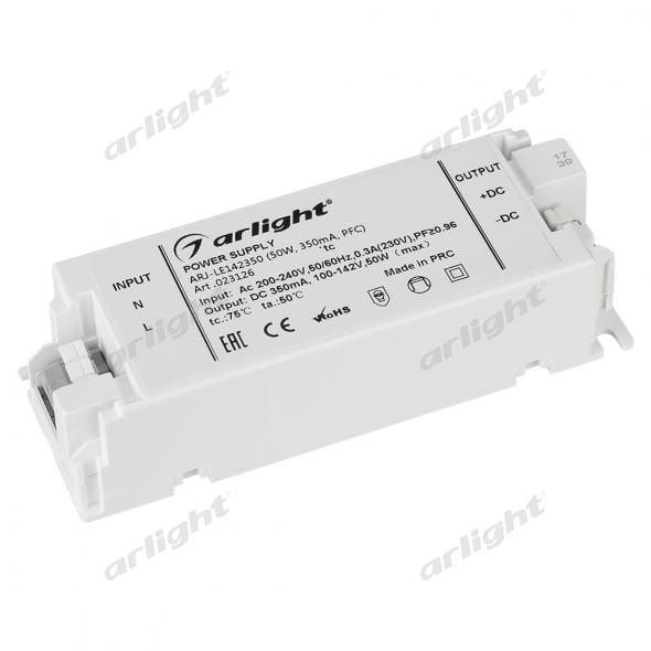 Блок питания Arlight ARJ-LE142350 (50W, 350mA, PFC) 023126Блоки питания<br><br>