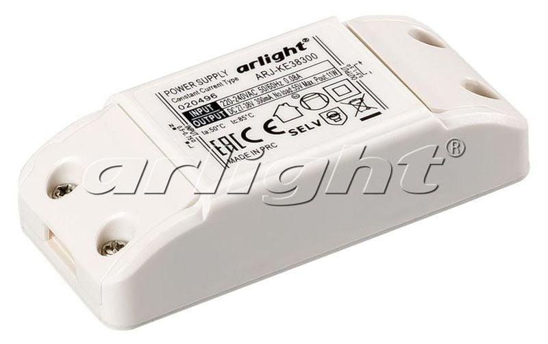 Блок питания Arlight ARJ-KE38300 (12W, 300mA) 020496Блоки питания<br><br>