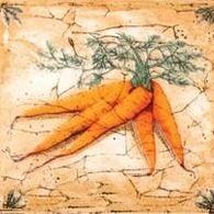 Гурман Декор морковь (D-496) 16,5х16,5Плитка<br><br>