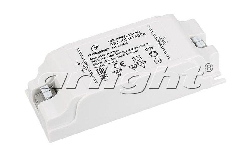 Блок питания Arlight ARJ-KE361400A (50W, 1400mA, PFC) 023453Блоки питания<br><br>