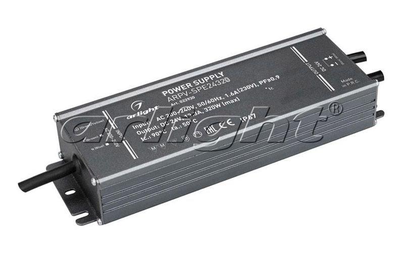 Блок питания Arlight ARPV-SPE24320 (24V, 13.3A, 320W, PFC) 022930Блоки питания<br><br>