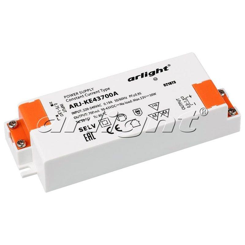 Блок питания Arlight ARJ-KE43700A (30W, 700mA, PFC) 021873Блоки питания<br><br>