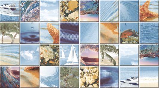 Dec Mozaic Sea Декор КВС16MozaicSea 25х45Плитка<br><br>