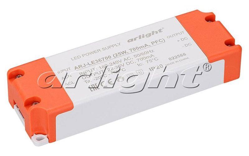 Блок питания Arlight ARJ-LE36700 (25W, 700mA, PFC) 022566Блоки питания<br><br>