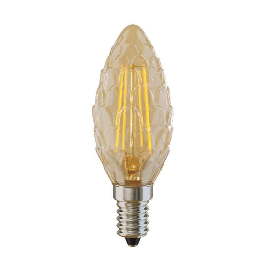 Лампа светодиодная E14 4W 2800К свеча шишка Светодиодные<br><br>
