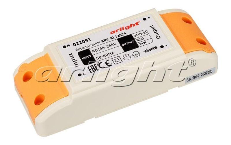 Блок питания Arlight ARV-AL12024 (12V, 2A, 24W) 022091Блоки питания<br><br>