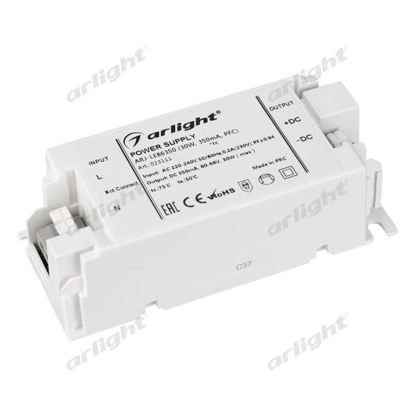 Блок питания Arlight ARJ-LE86350 (30W, 350mA, PFC) 023111Блоки питания<br><br>