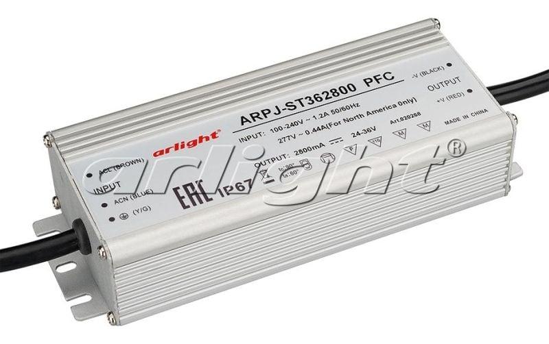 Блок питания Arlight ARPJ-ST362800 PFC (100W, 2800mA) 020268Блоки питания<br><br>