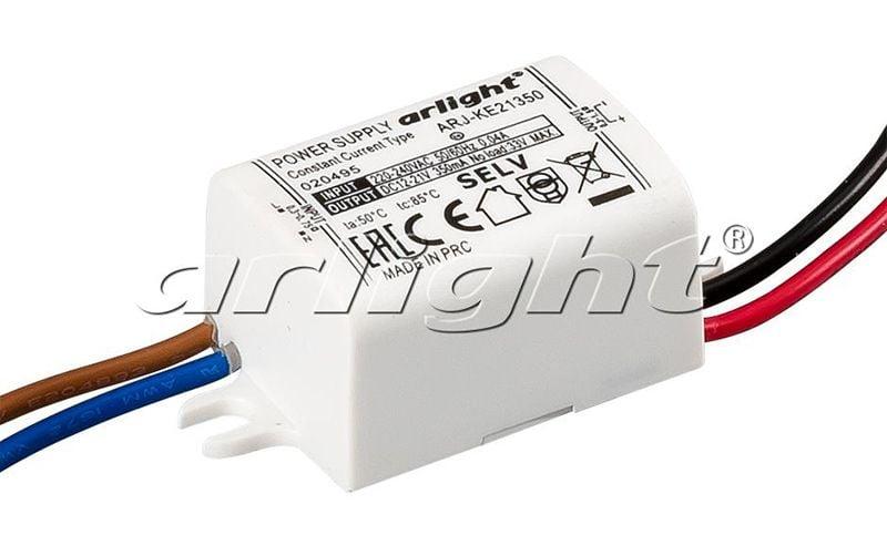 Блок питания Arlight ARJ-KE21350 (6W, 350mA) 020495Блоки питания<br><br>