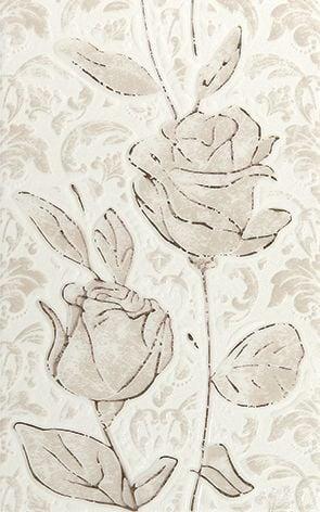 Fiora white Декор 01 25x40Плитка<br><br>