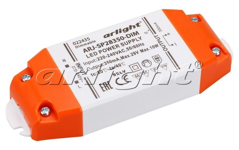 Блок питания Arlight ARJ-SP28350-DIM (10W, 350mA, PFC, Triac) Блоки питания<br><br>