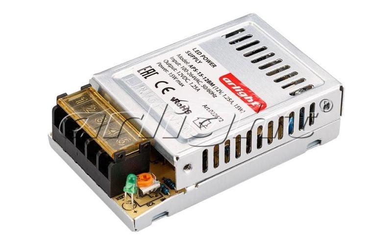 Блок питания Arlight APS-15-12BM (12V, 1.25A, 15W) 022872Блоки питания<br><br>