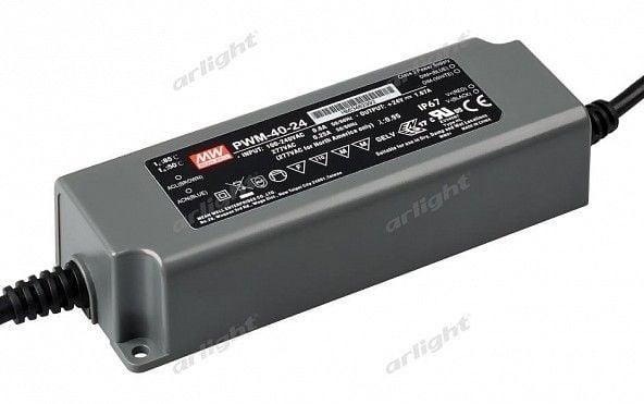 Блок питания Arlight PWM-40-24 (24V, 1.67A, 40W, 0-10V, PFC) Блоки питания<br><br>
