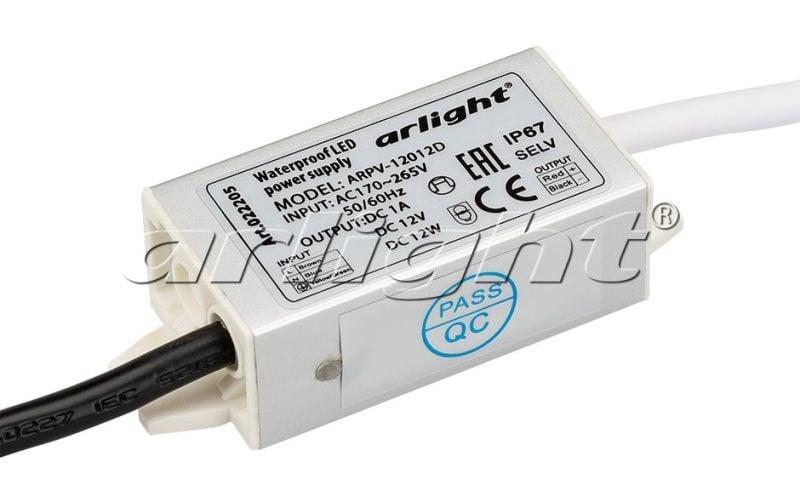 Блок питания Arlight ARPV-12012D (12V, 1A, 12W) 022205Блоки питания<br><br>