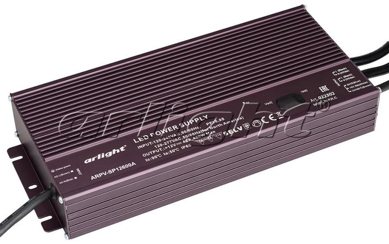 Блок питания Arlight ARPV-SP12600A (12V, 40A, 480W, PFC) 022302Блоки питания<br><br>