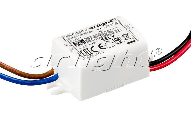Блок питания Arlight ARJ-KE08700 (6W, 700mA) 020174Блоки питания<br><br>