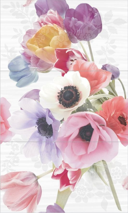 Dec Anemonas Panno (панно из 3-х шт) КПН16Anemonas 75х45Плитка<br><br>