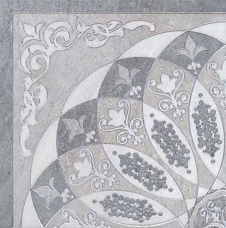 Монтаньоне 1/4 Розона серый лаппатированный Плитка<br><br>