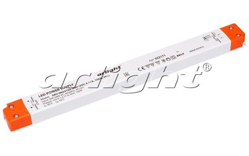 Блок питания Arlight ARV-SN24100-Slim (24V, 4,17A, 100W, PFC) Блоки питания<br><br>