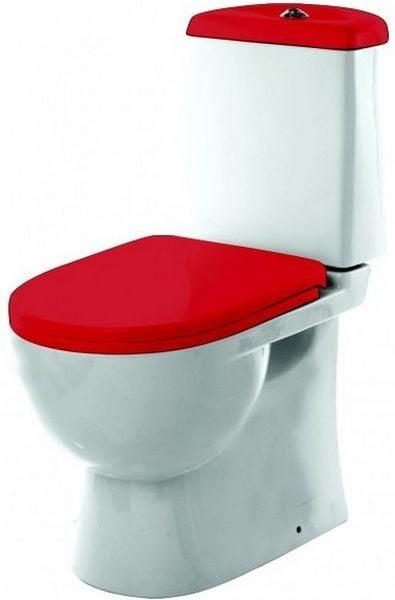 Унитаз-компакт Sanita Luxe Best Color Red SL900307Напольные (унитазы компакт)<br><br>