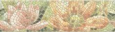 Летний сад Бордюр Лилии лаппатированный Плитка<br><br>