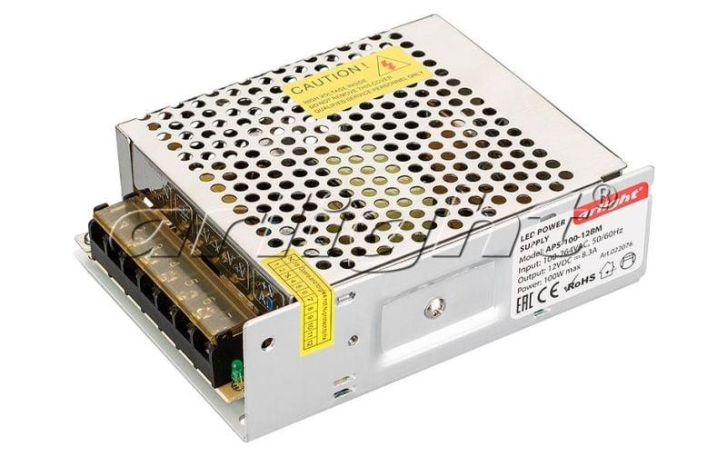 Блок питания Arlight APS-100-12BM (12V, 8.3A, 100W) 022076Блоки питания<br><br>
