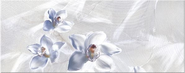 Агат блю Декор Орхидея 20,1х50,5Плитка<br><br>