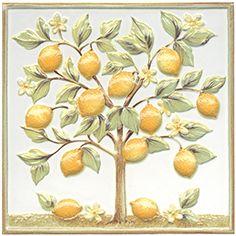 Капри Декор настенный Лимонное дерево Плитка<br><br>
