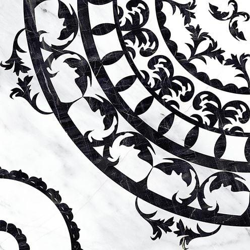 Oriental напольная вставка черно-белая (OE6R442DT) Плитка<br><br>