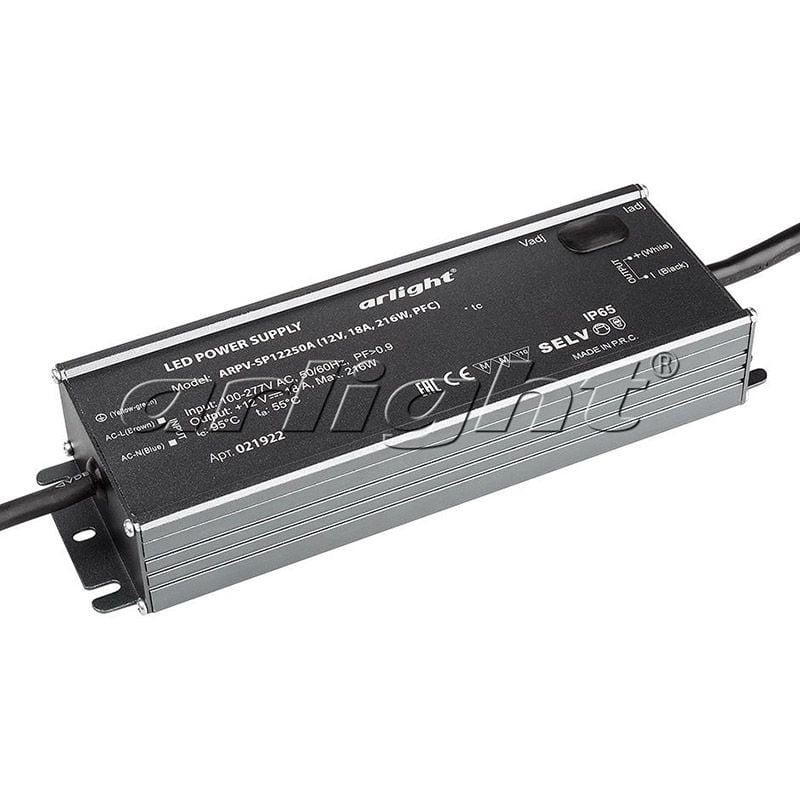 Блок питания Arlight ARPV-SP12250A (12V, 18A, 216W, PFC) 021922Блоки питания<br><br>