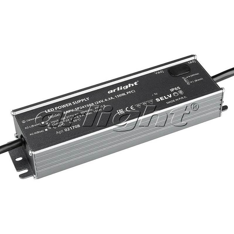 Блок питания Arlight ARPV-SP24150A (24V, 6.3A, 150W, PFC) 021708Блоки питания<br><br>