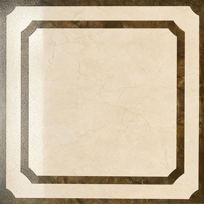 Шарм Крим вставка Фрэйм 59х59 люксКерамогранит<br><br>