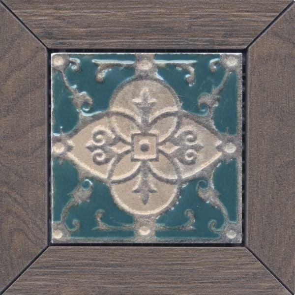 Меранти Вставка венге мозаичный ID60 13х13Керамогранит<br><br>