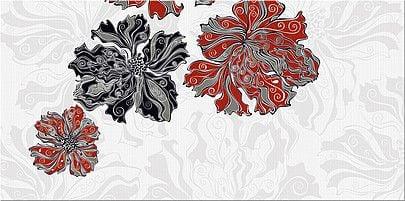 Валькирия Декор Цветы 1 20,1х40,5Плитка<br><br>
