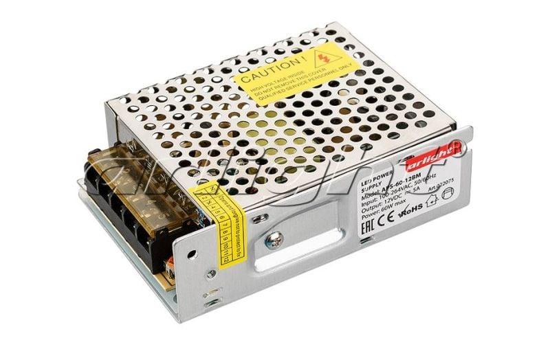 Блок питания Arlight APS-60-12BM (12V, 5A, 60W) 022075Блоки питания<br><br>