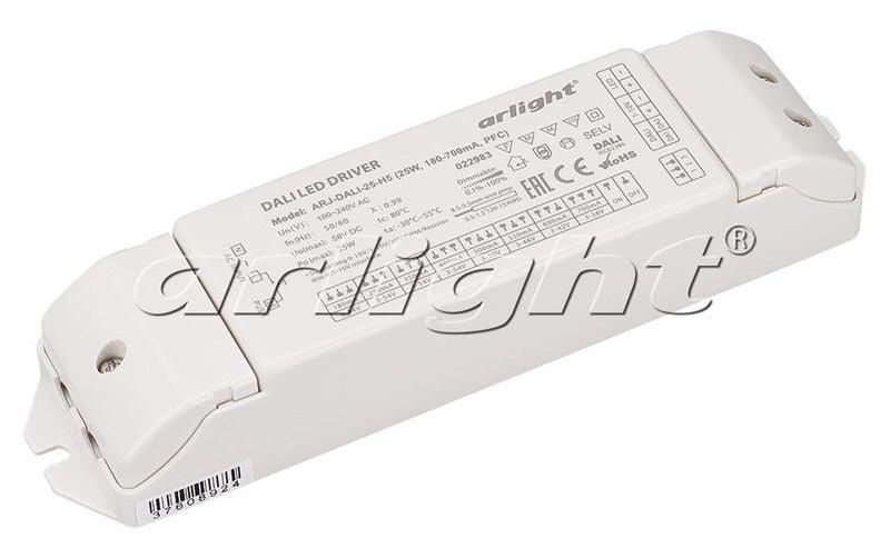 Блок питания Arlight ARJ-DALI-25-H5 (25W, 180-700mA, PFC) 022983Блоки питания<br><br>