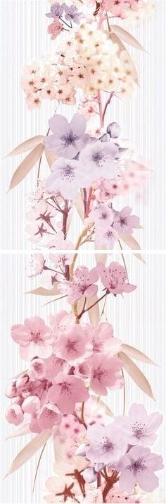 Sakura Панно P2D131 20х60 (из 2-х пл.)Плитка<br><br>
