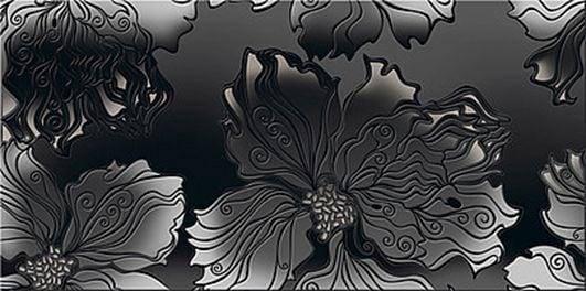 Валькирия Декор Антрацит Цветы 40,5х20,1Плитка<br><br>