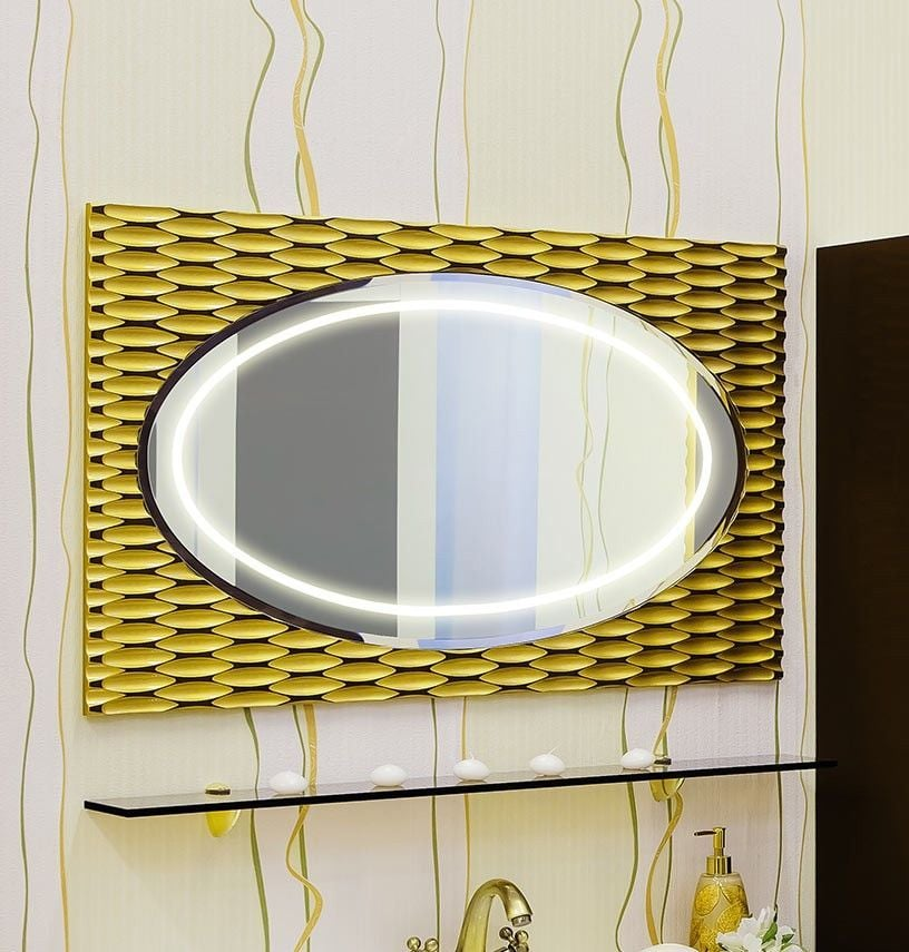 Зеркало Sanflor Белла 100 Н0000000063 шоколадный, Зеркала<br><br>