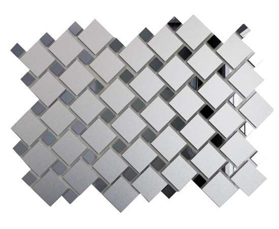 Мозаика зеркальная Серебро матовое + Графит Мозаика<br><br>