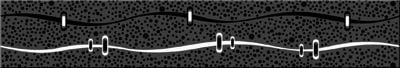 Дефиле Неро Бордюр Геометрия 6,2х40,5Плитка<br><br>