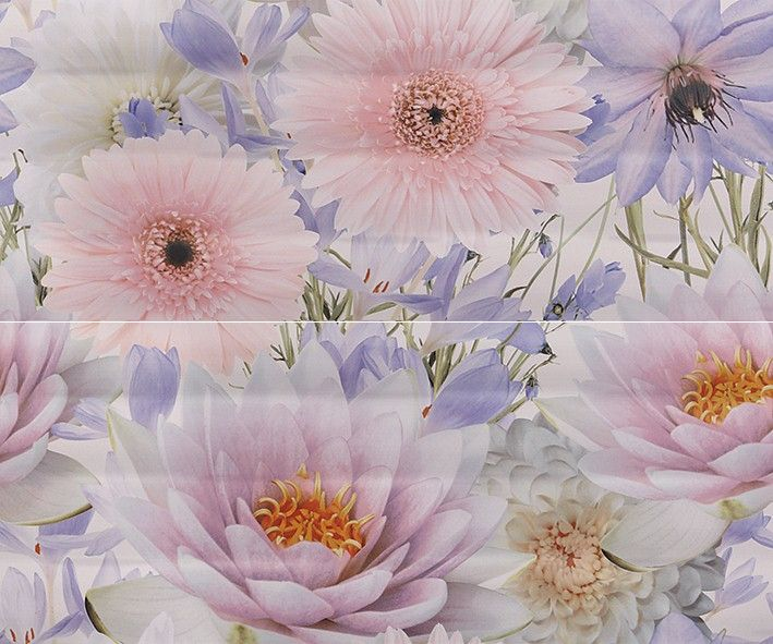 Aquarelle lilac Панно 01 50х60Плитка<br><br>