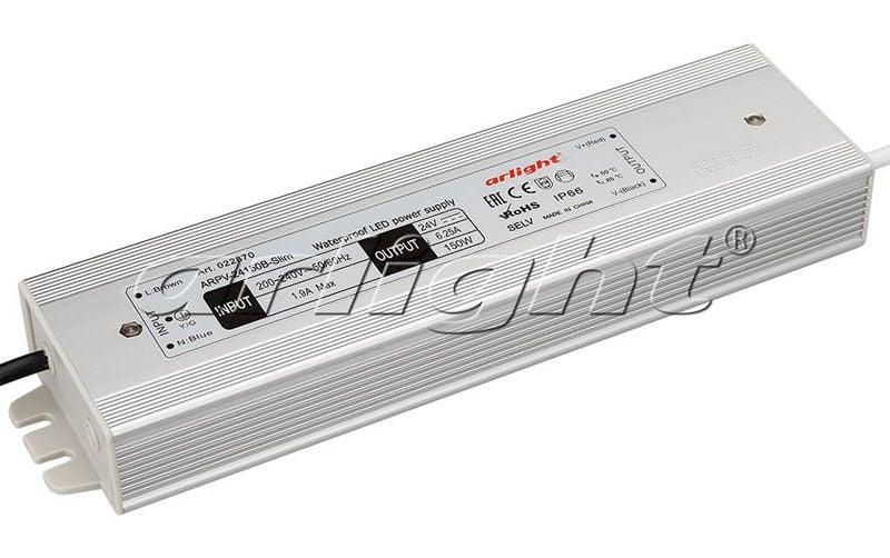 Блок питания Arlight ARPV-24150B-Slim (24V, 6.25A, 150W) 022870Блоки питания<br><br>