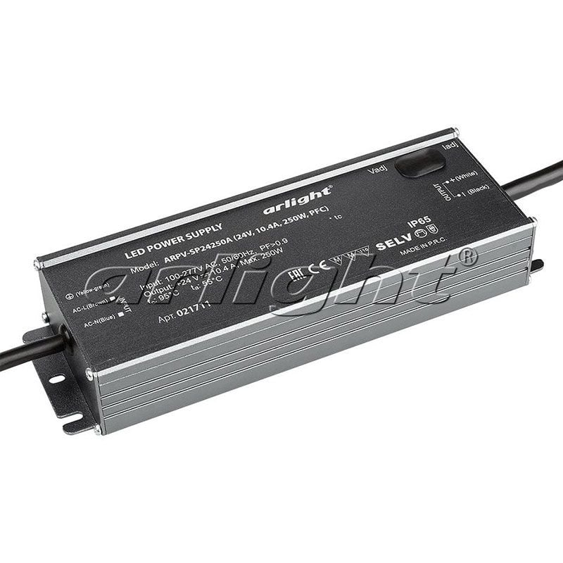 Блок питания Arlight ARPV-SP24250A (24V, 10.4A, 250W, PFC) 021711Блоки питания<br><br>