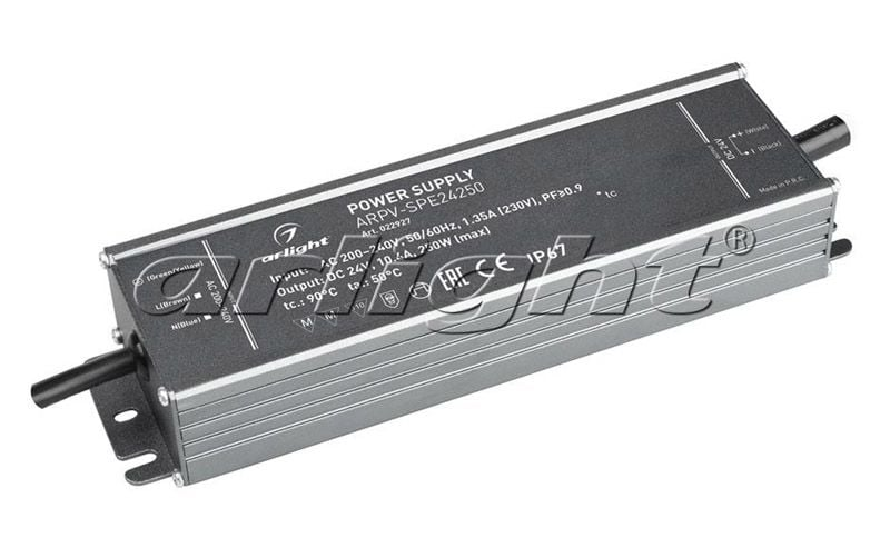 Блок питания Arlight ARPV-SPE24250 (24V, 10.4A, 250W, PFC) 022927Блоки питания<br><br>