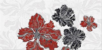 Валькирия Декор Цветы 2 20,1х40,5Плитка<br><br>