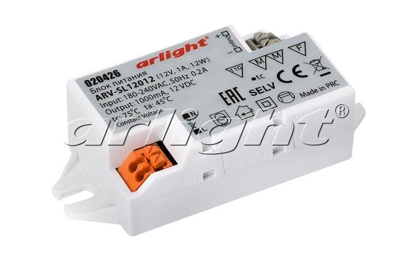 Блок питания Arlight ARV-SL12012 (12V, 1A, 12W) 020426Блоки питания<br><br>