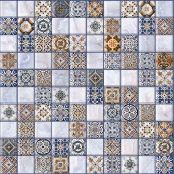 Орнелла арт-мозаика синий 5032-0200 30х30Плитка<br><br>